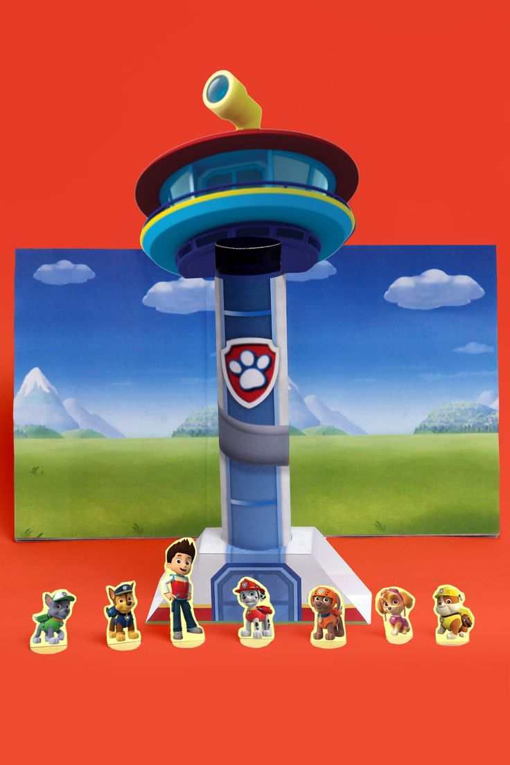 PAW Patrol Look-Out Tower Theater Craft--Has 5 pages