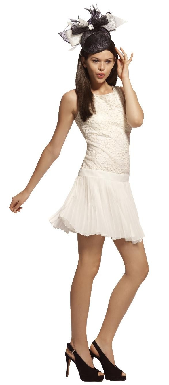 REVIEW 'Carmen' dress, MORGAN & TAYLOR fascinator (limited stock) and URBAN SOUL 'Meridian' sandal #derbyday #myerspringfashion