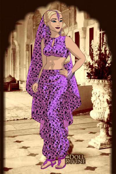 Princesa Iniken en traje Árabe