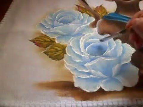 Como fazer rosa azul. - YouTube                                                                                                                                                     Mais