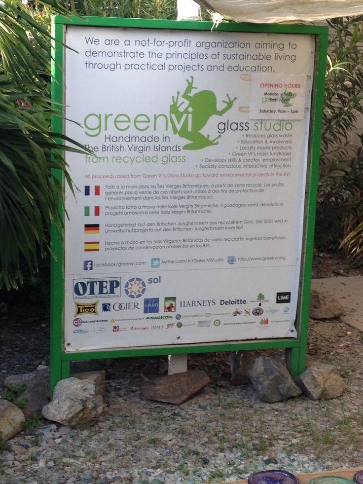 September 2013- BVI glass recycling make beautiful jugs, paperweights