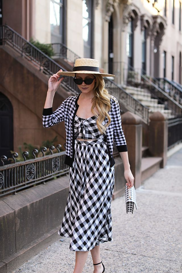 SPRING IN WINTER // GINGHAM DRESS