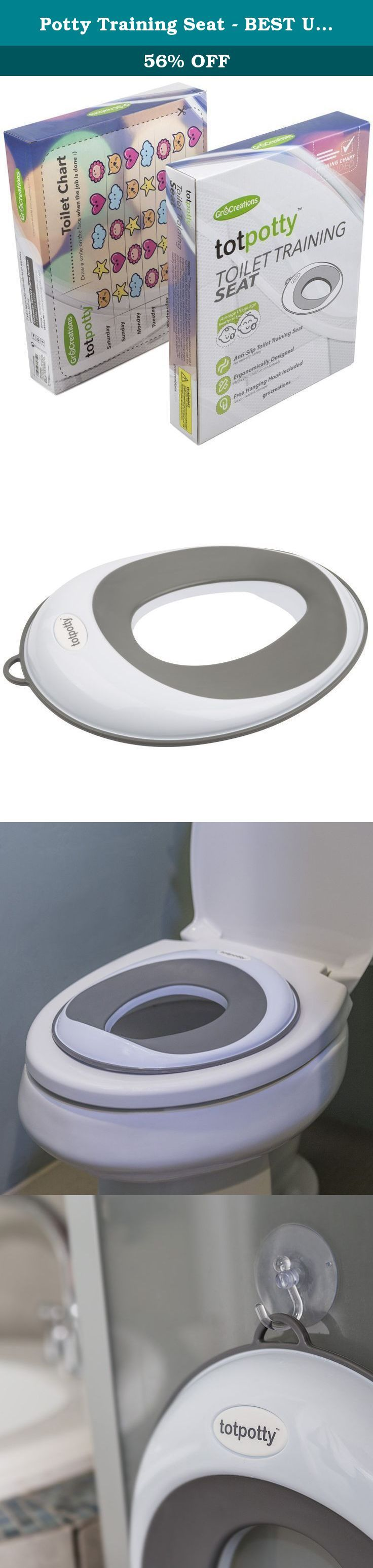 Potty Training Seat - BEST Unisex Toilet Training Seat | Secure Anti-Slip Ring toilet topper | + FREE GIFTS Hanging Hook & Suction Cup - PLUS Potty Training Reward Chart. POTTY TRAIN WITH CONFIDENCE! When you purchase GroCreations totpotty™ Toilet Training Seat - not only do you get the best potty training seat on the market, you also get our amazing customer service experience. The totpotty™ is the accessory for your potty training toddler. This stylish potty seat blends with your…