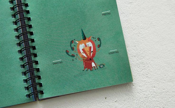 Prinz Apfel – Ewiger Kalender groß und klein Detail