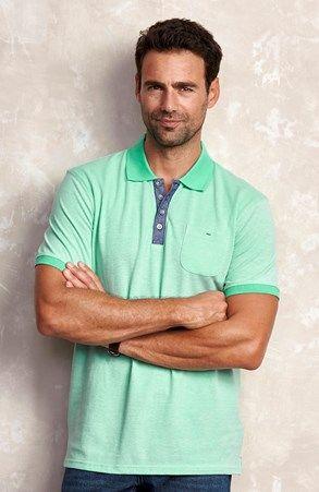 Super seje Cellbes Poloshirt Mintgrøn Meleret Cellbes  til Herrer i luksus kvalitet