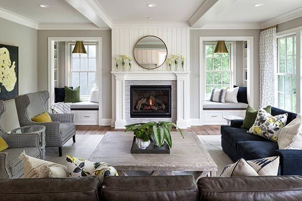 5 Inspring Family Room Ideas With Fireplace Futurian Modern Fireplace Decor Living Room With Fireplace Family Room Design