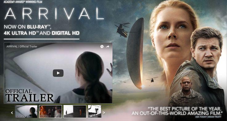 http://www.arrivalmovie.com/  Het handige aan deze opstelling van de site is dat je de trailer meteen kan zien. De aandacht wordt echter verspreid door de afbeelding aan de rechterkant.