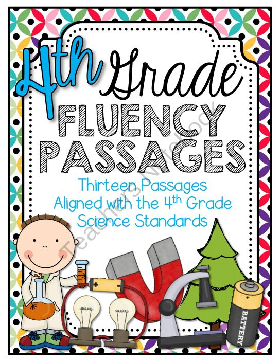 4th Grade Science Fluency Readers from Barnard Island on TeachersNotebook.com -  (17 pages)  - This product is a useful tool to help students improve their oral reading fluency! Passages are aligned with 4th grade science standards.
