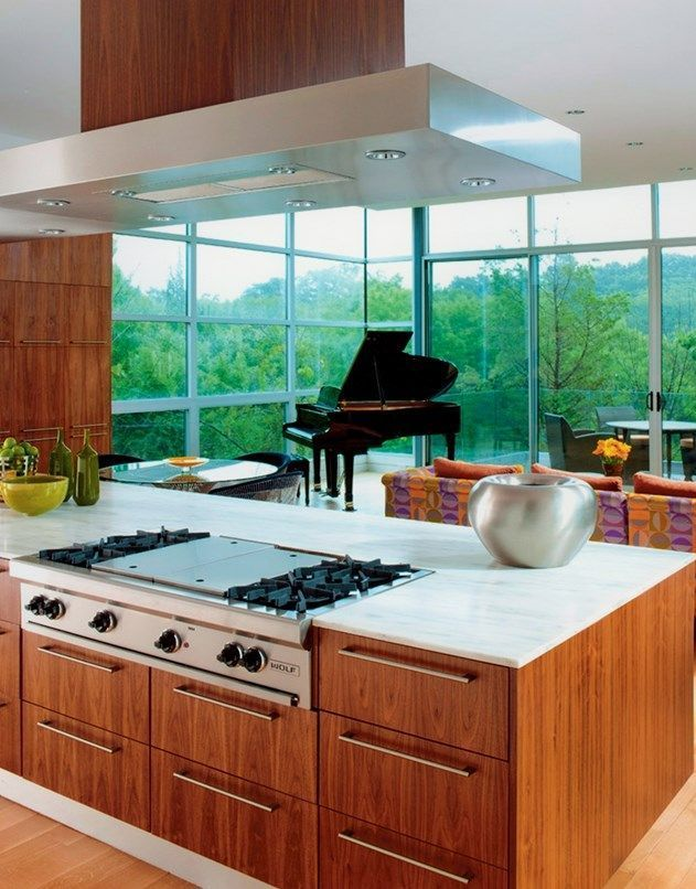 The 16 best kitchen island hoods images on Pinterest | Contemporary ...
