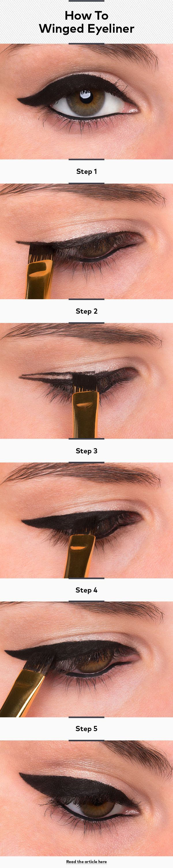 How To Do Winged Eyeliner or Cat-Eye Liner | Beautylish