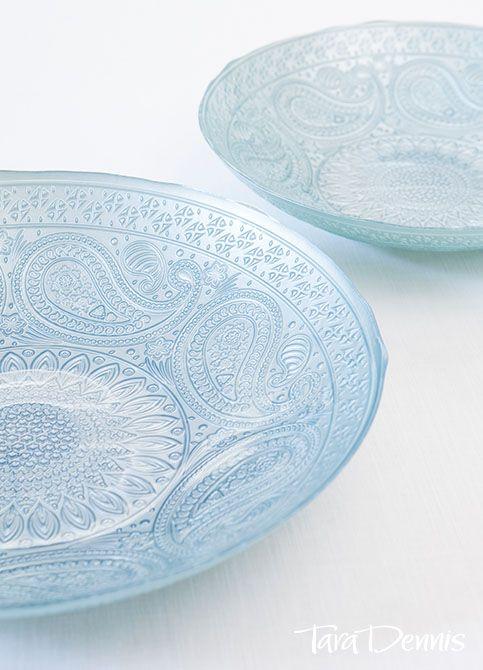 Paisley Collection - #TaraDennis - Glass dishes taradennis.com