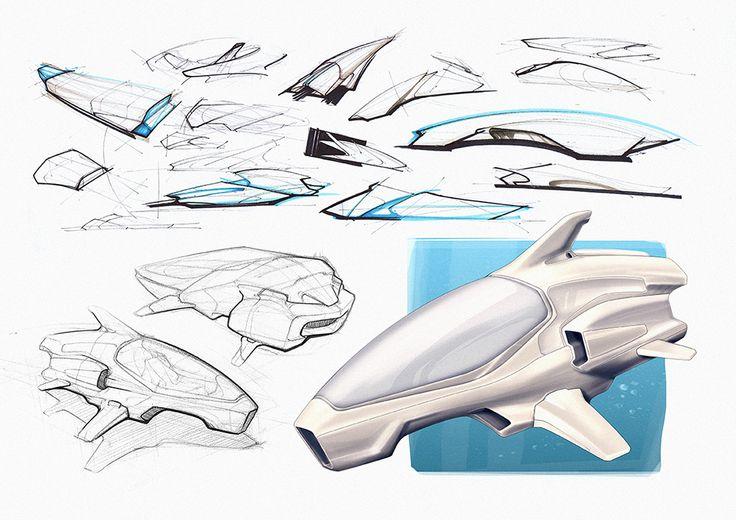 One Man Submarine Sketches2 via PinCG.com