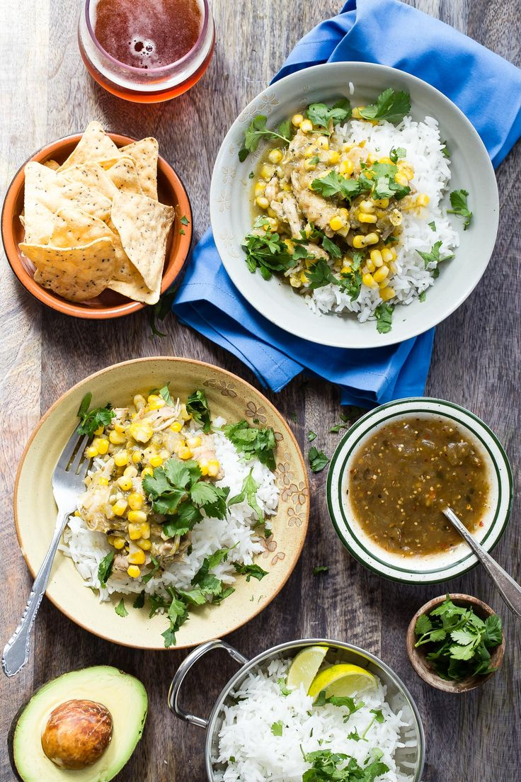 Crock Pot Chicken Chili Verde from weelicious.com - veganize with Beyond Meat and black beans