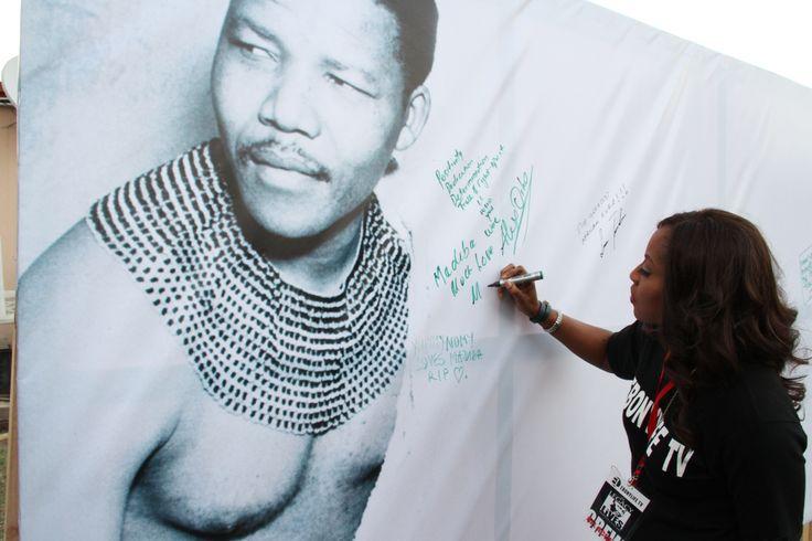 Mo Abudu at the Nelson Mandela Tribute concert