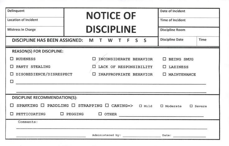 Notice of Discipline