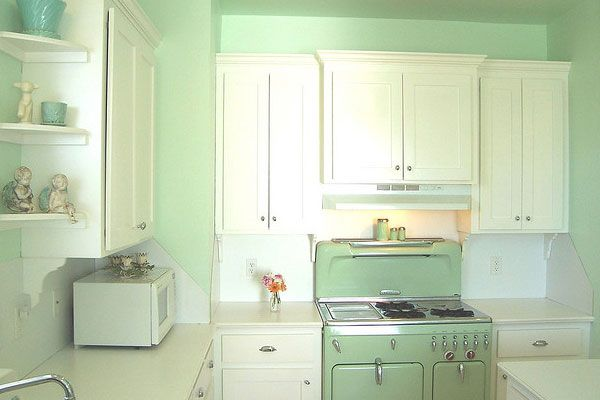 antique green paint | my vintage kitchen 40 Breathtaking Paint Colors For Kitchens