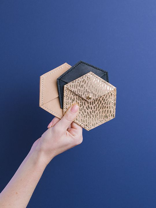 Symmetry collection by Georgie Cummings  Hex coin purses