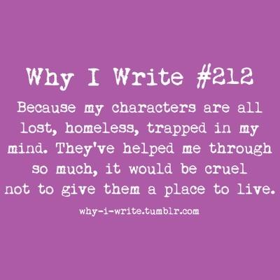 Why I Write #212