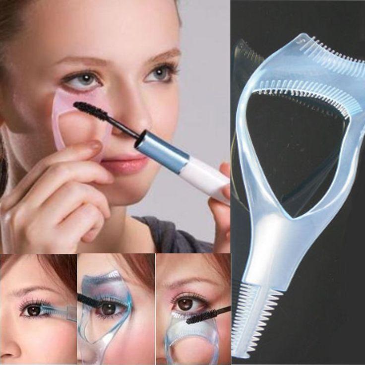1 PC 3 em 1 Maquiagem Mascara cílios escova Curler Lash Comb cosméticos sobrancelha Maquiagem ferramenta Hot Brochas Maquiagem alishoppbrasil