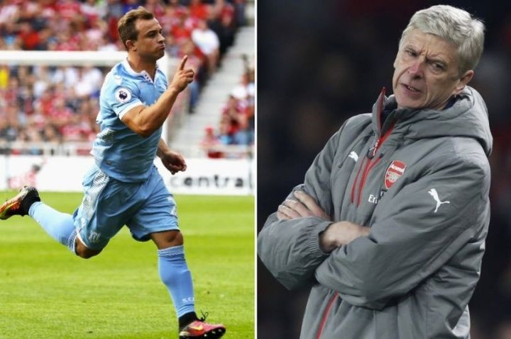 Xherdan Shaqiri has backed his former club FC Basel to shock Arsenal in the Champions League tonight. The Stoke playmaker  Source