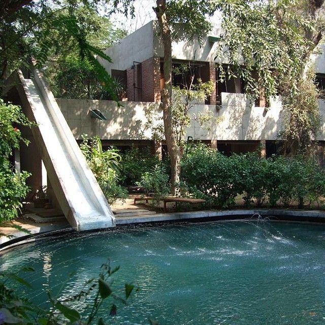 India Le Corbusier Slide Roof Le Corbusier Ahmedabad Casa