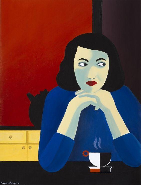 Marjane Satrapi : de la BD à la peinture: