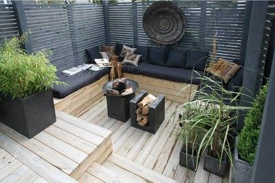 Zen out door living room!
