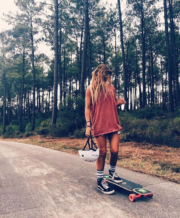 Skater blonde girl, teens girls nud frenck