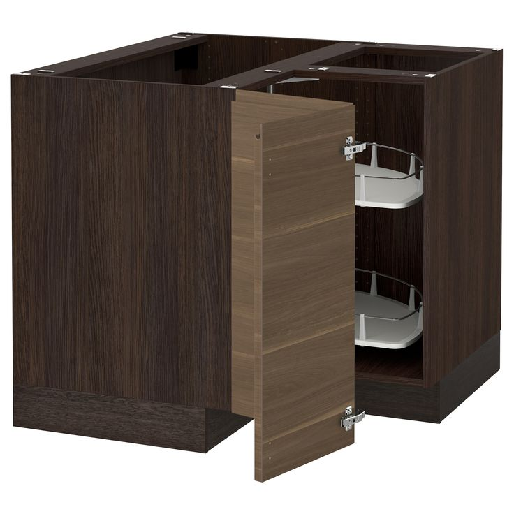 IKEA   SEKTION Wood Effect Brown Corner Base Cabinet With Carousel