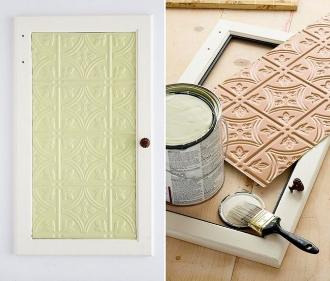 Kitchen Cabinet Door Makeover Embossed Tin Ceiling Tiles