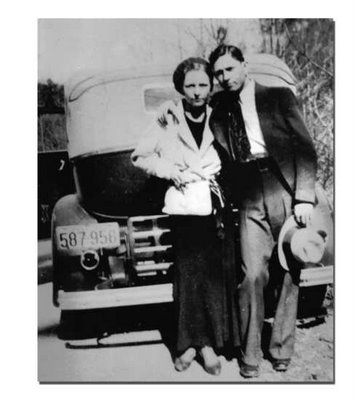 Clyde Barrow and Bonnie Parker, 1930's