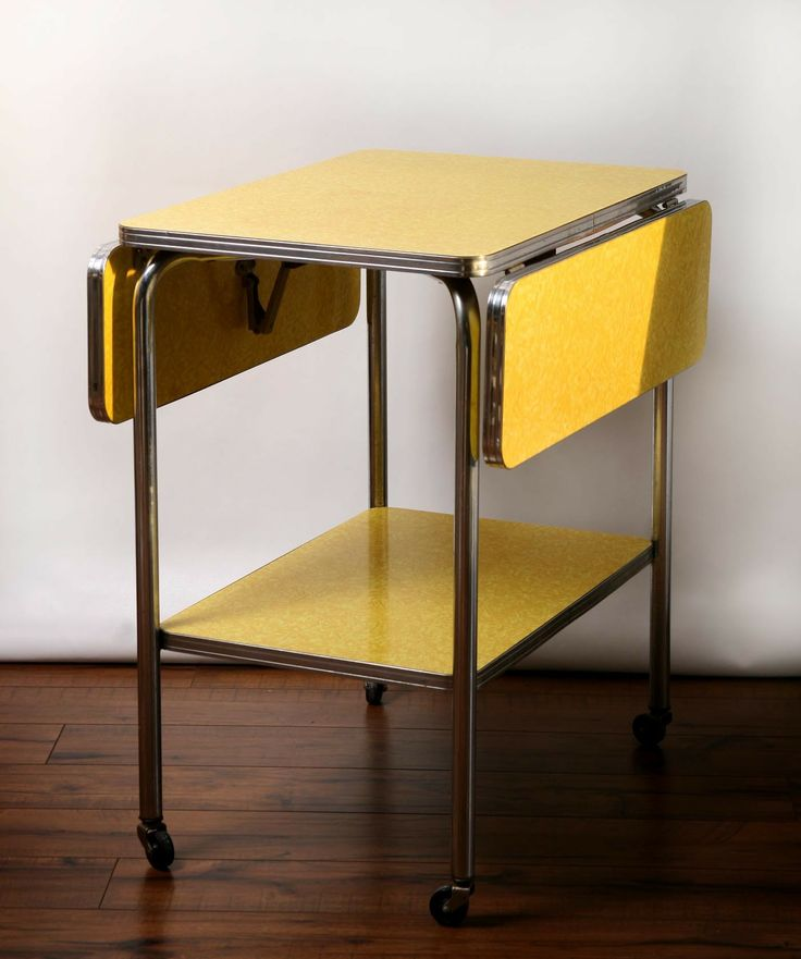 VTG Yellow and Chrome Kitchen Cart  100   Avon  vintage  retro  furniture  http. 251 best images about Mid Century Modern on Pinterest   Toronto