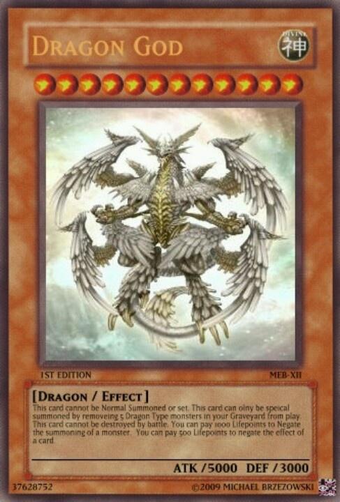 Dragon God-Yu-Gi-Oh card