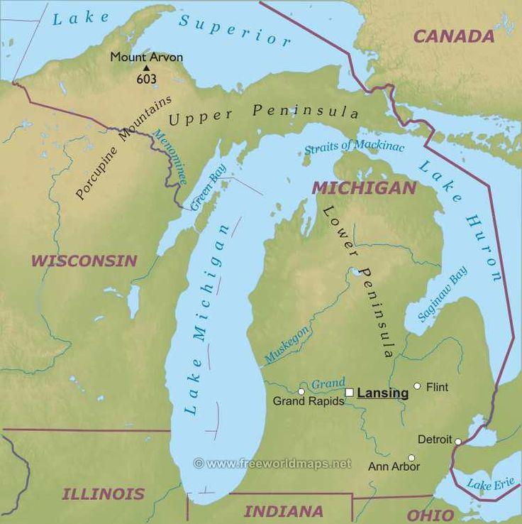 Мичиган штат : флаг штата Мичиган Мичиган (англ. Michigan) — штат на Среднем Западе США, входящий в группу штатов Северо-Восточного Центра. 26-й штат в составе союза. Столица — Лэнсинг. Крупнейший город — Детройт; другие крупные города — Грэнд-Рэпидс, Уоррен