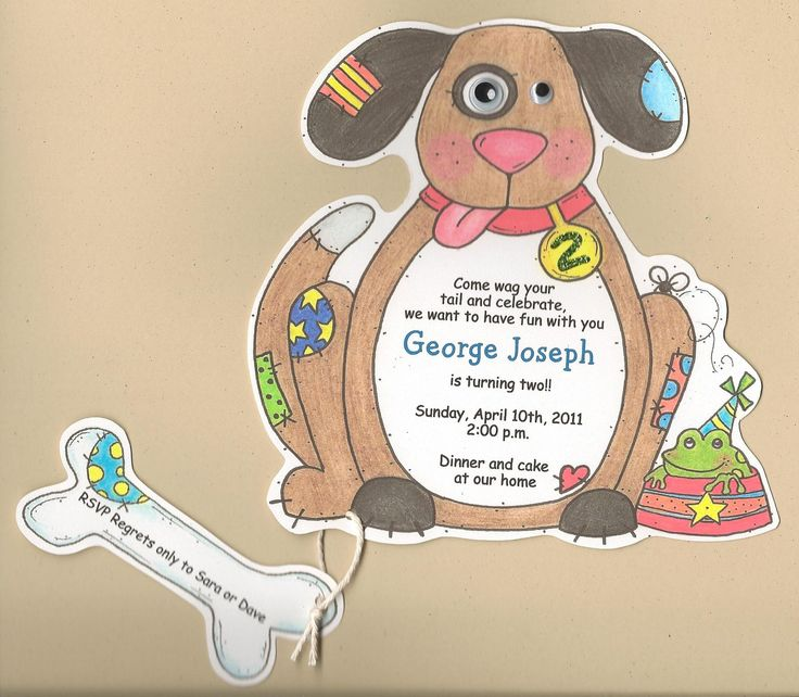 15 Boy Birthday - Dog Themed Party Invitations - Handcut and Personalized by sarajanestudio on Etsy https://www.etsy.com/listing/121997177/15-boy-birthday-dog-themed-party