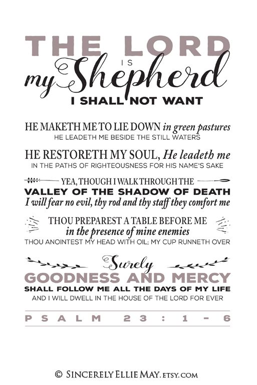It is a photo of Psalm 23 Printable pertaining to free printable