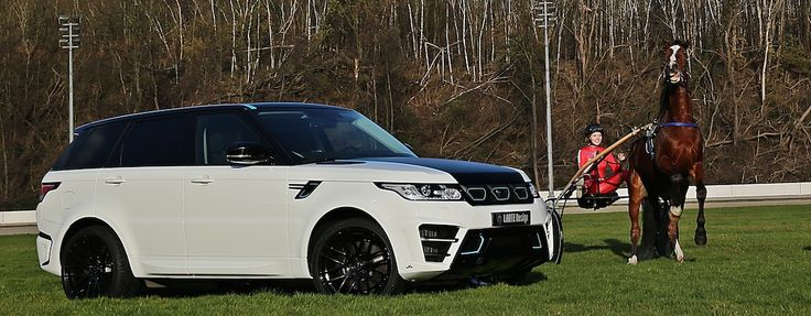 Here, the RANGE ROVER SPORT WINNER reveals its elegant aspect. Fine, horizontal lines in a contrasting dark shade make for the air of a sporty yacht and lend the rear part extra mass and width. Small spoiler fins and fine air inlets loosen up the design.