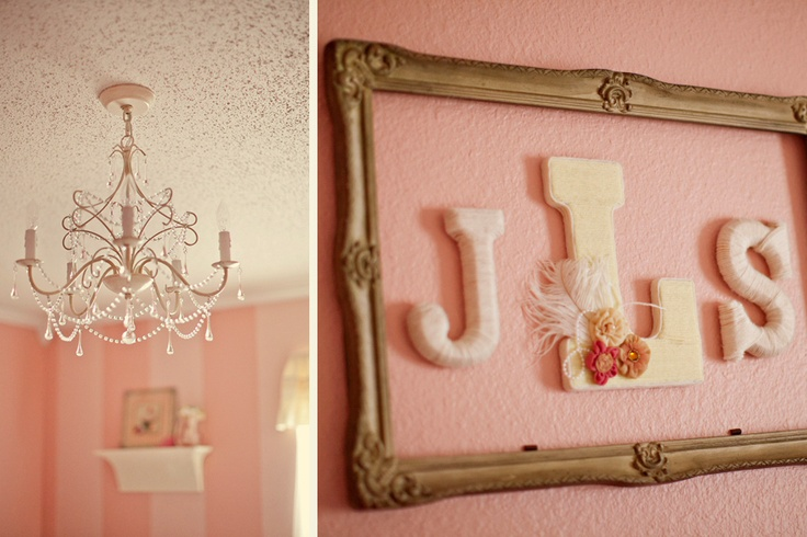 love the framed yarn covered letters