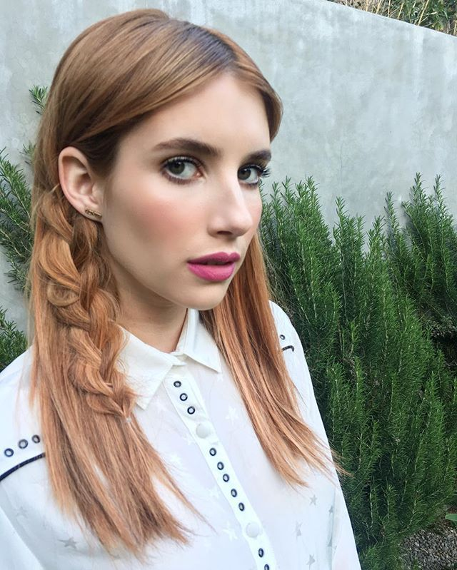 This braid looks stunning on Emma Roberts and is perfect for Coachella.