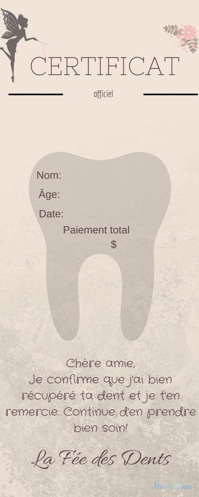 Kit pour emporter de la Fée des Dents