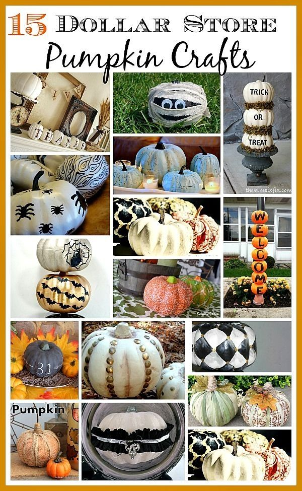 Foam pumpkins from the dollar store are the perfect fall accessory to makeover on a budget! Here are 15 dollar store pumpkin crafts to get you inspired. by irma