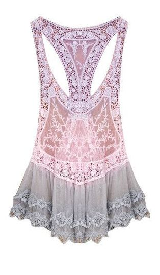 lace racerback cover up