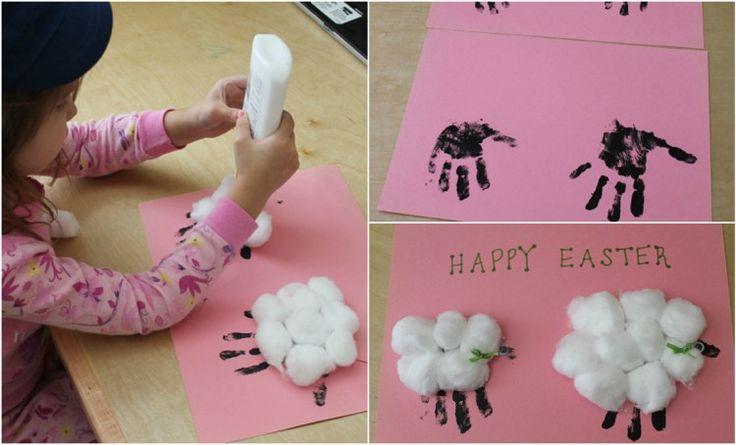 Handabdruck Bilder gestalten – Süße Ideen für Kinder im Kindergarten – kindergarten