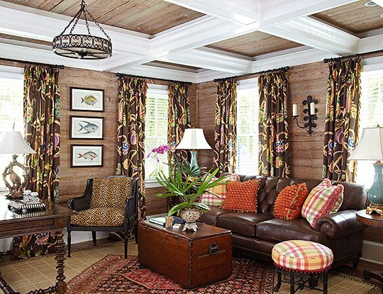 change the fish photos -a different pattern on the drapes or perhaps texture of material otherwise nice