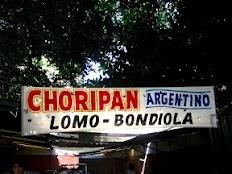 Choripan street food in San Telmo - Buenos Aires, Argentina