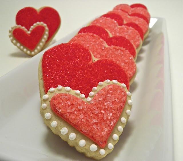 Pretty Valentines Sugar Cookies Hilodays Pinterest