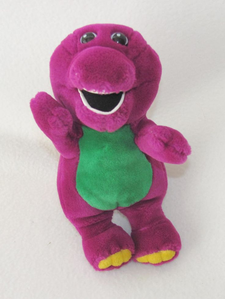 9 Quot Lyon S Vintage Barney Dinosaur Open Mouth Plush Stuffed