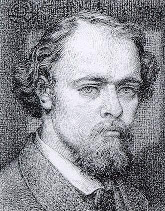 Self-Portrait, 1870 by Dante Gabriel Rossetti. Romanticism. self-portrait. National Portrait Gallery, London, UK