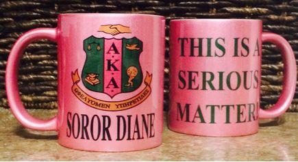 AKA 11 oz Metallic Coffee Mug - This is a Serious Matter - Alpha Kappa Alpha Mug