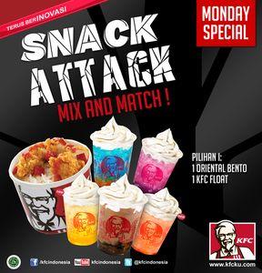 Gw ikutan kontes dari KFC Indonesia:SNACK ATTACK - MIX AND MATCH.. Hadiahnya Voucher KFC 1juta! Ikutan yuuk..